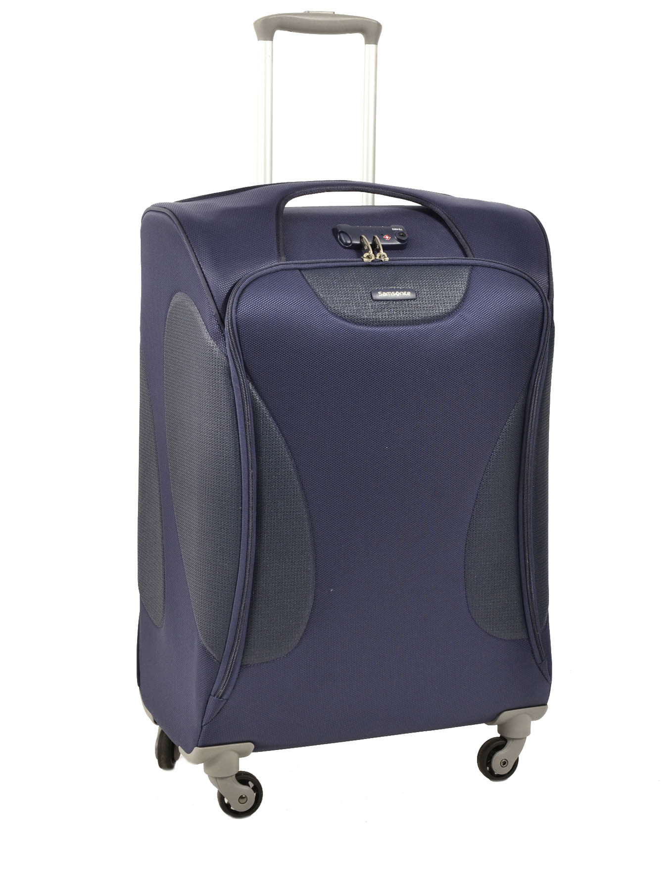 valise 4 roues souple samsonite bleu panayio 42u004. Black Bedroom Furniture Sets. Home Design Ideas