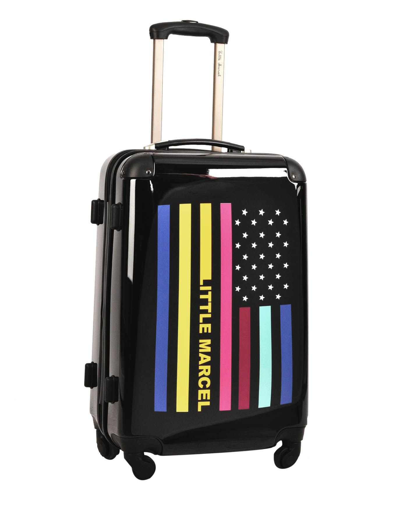valise 4 roues rigide little marcel multicolore flag flag m. Black Bedroom Furniture Sets. Home Design Ideas