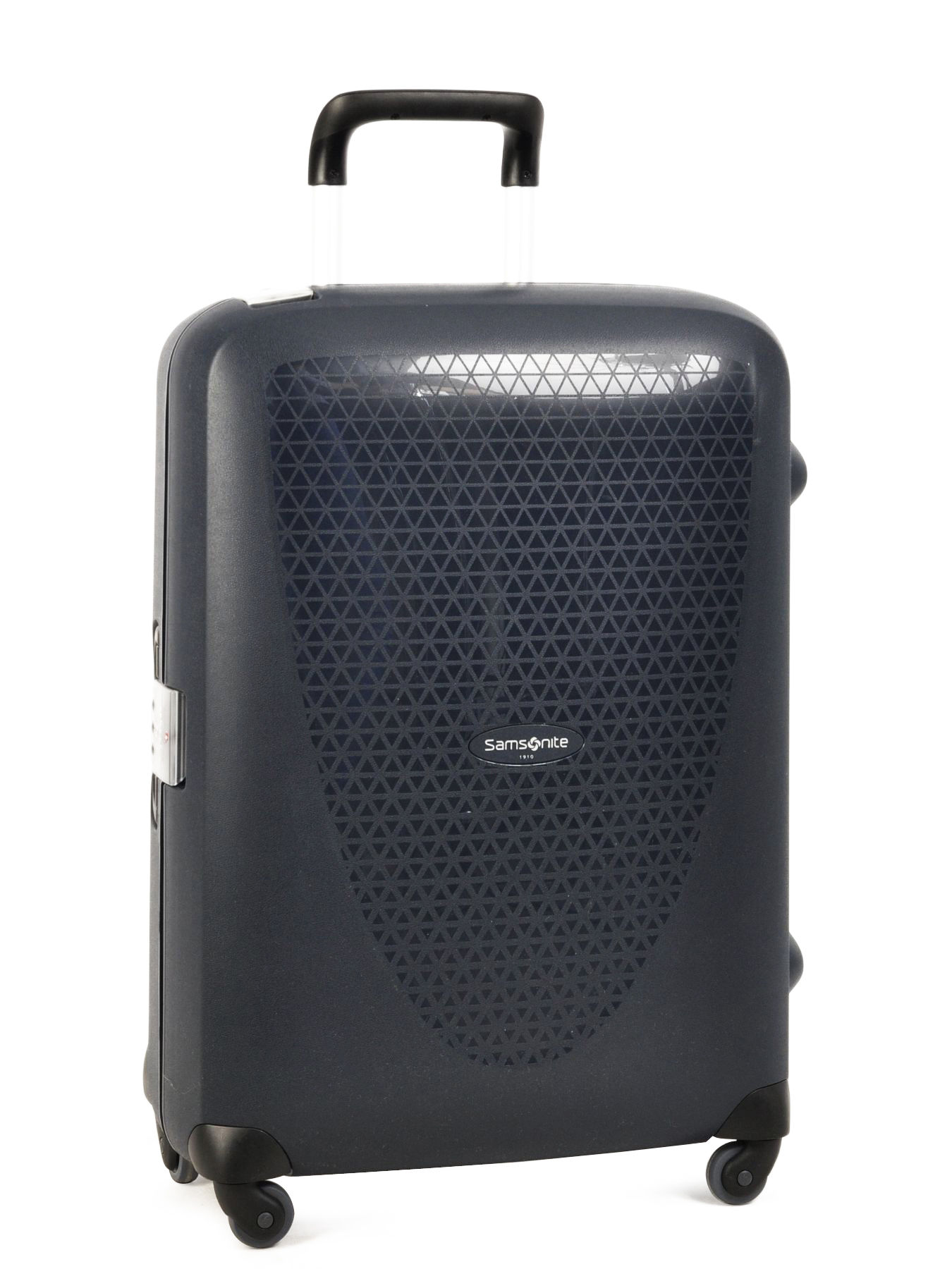 valise 4 roues rigide samsonite bleu termo young 70u004. Black Bedroom Furniture Sets. Home Design Ideas