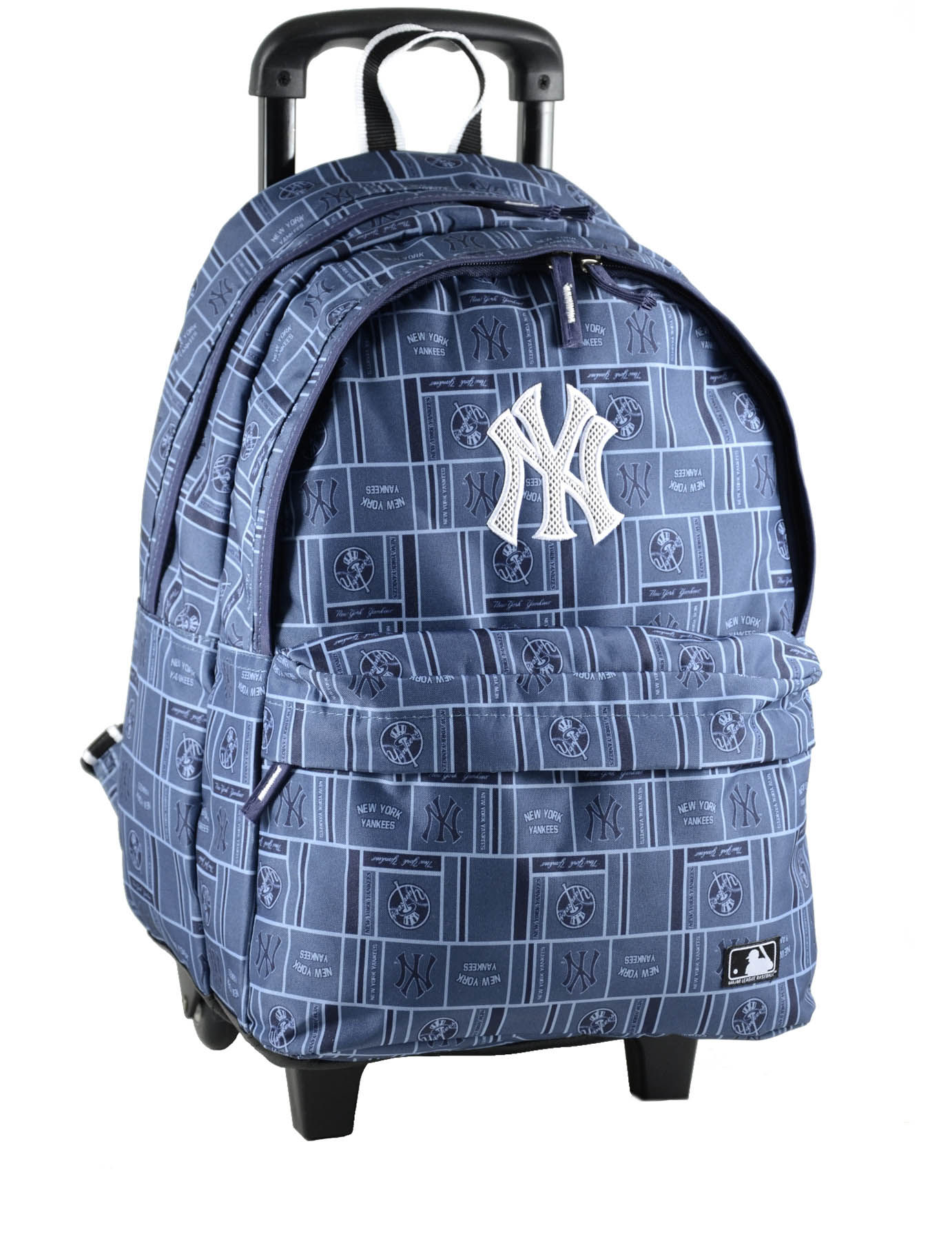 sac a dos a roulette mlb new york yankees bleu yankee mlz22045. Black Bedroom Furniture Sets. Home Design Ideas
