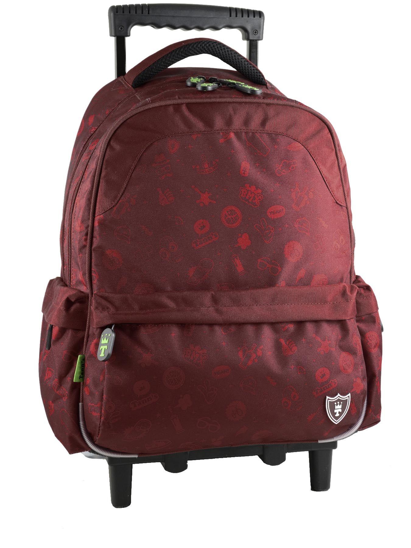 sac a dos a roulettes tann 39 s rouge fun boy l3trsadl. Black Bedroom Furniture Sets. Home Design Ideas