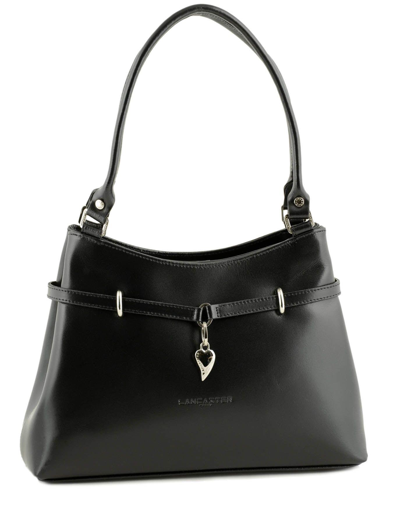 sac main versailles cuir lancaster noir versailles 431013. Black Bedroom Furniture Sets. Home Design Ideas