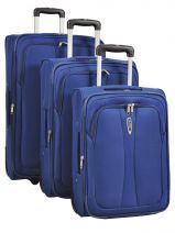 Lot De 3 Valises 2 Roues Souple Travel Bleu sky2004 20041LOT