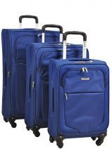 Lot De 3 Valises 4 Roues Souple Travel Bleu sky2004 21191LOT