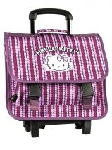 Cartable A Roulettes Hello kitty Rose rainbow heart HPC23015