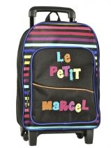 Sac A Dos A Roulettes Little marcel Noir little boy PHIL