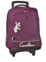 Sac A Dos A Roulettes A4 Compartiment Cameleon Rose basic girl 13F-2BOR