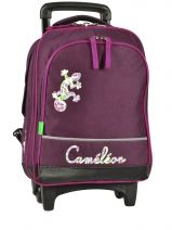 Sac A Dos A Roulettes A4 Compartiment Cameleon Rose basic girl 13F-2PRI