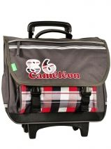 Cartable A Roulette Cameleon Gris basic boy 13G2CA41