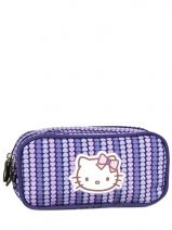 Trousse Hello kitty Violet rainbow heart HPC20010