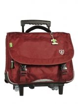 Cartable A Roulettes Tann's Rouge fun boy L3TRCA38