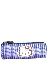 Trousse Hello kitty Violet rainbow heart HPC20009