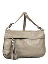 Shoulder Bag  Leather Milano Gray 180