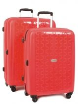 Lot De 2 Valises Travel Rouge titanium WX28-24
