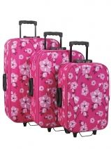 Lot De 3 Valises Travel Multicolore cheap ET1010