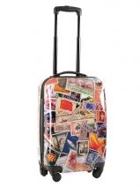 Valise 4 Roues Rigide Travel Multicolore print shinny PT5001-S