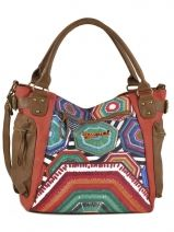 Sac � Main Pentagon Folded Desigual Multicolore pentagon folded 42X5343