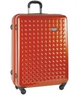 Valise 4 Roues Rigide Dot drops Orange regular 12126PC
