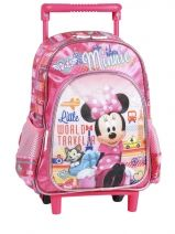 Sac A Dos Roulettes 1 Compartiment Minnie Rose little world traveler 36116C