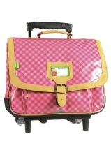Cartable A Roulettes 2 Compartiments Tann's Rose heritage 1956 HEFTCA38