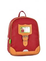 Sac A Dos 1 Compartiment Tann's Rouge kid classic 14SDXS