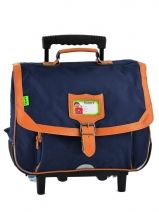 Cartable A Roulettes 2 Compartiments Tann's Bleu kid classic 14TCA38