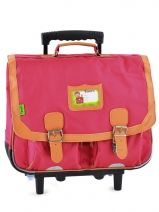 Cartable A Roulettes 2 Compartiments Tann's Rose kid classic 14TCA41