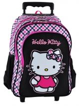 Sac A Dos A Roulettes  3 Compartiments Hello kitty Multicolore college 15KHK34