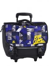 Cartable A Roulettes 2 Compartiments Rip curl Bleu photochek BBPBM4