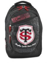 Sac A Dos 2 Compartiments Stade toulousain Rouge red and black 143T204B