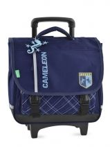 Cartable A Roulettes 2 Compartiments Cameleon Bleu basic boy 14G2CA38
