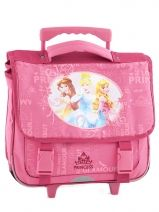 Cartable A Roulettes  2 Compartiments Princess Rose flower 1171