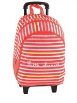 Sac A Dos A Roulettes 3 Compartiments Little marcel school RAJA