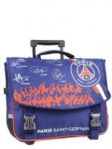 Cartable A Roulettes 2 Compartiments Paris st germain Bleu psg 143P203R