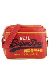 Messenger Bag Superdry Red alumni US9JC015