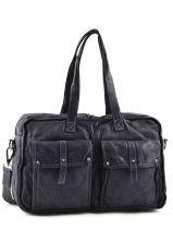Briefcase 1 Compartment Basilic pepper Black rodeo 9769