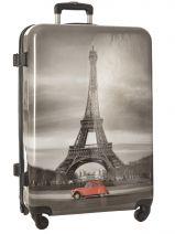 Valise Rigide Print Shinny Travel Blanc print shinny PT1345-L