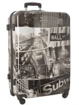 Hardside Luggage Print Shinny Travel White print shinny PT1920-L