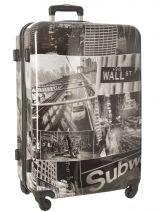 Valise Rigide Print Shinny Travel Blanc print shinny PT1920-L