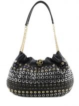 Hobo Bag Domino Leather Sonia rykiel Black domino 4149-75