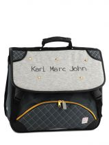 Cartable 2 Compartiments Karl marc john Gris star 632936