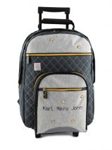 Sac A Dos A Roulettes 2 Compartiments Karl marc john Argent star 634936