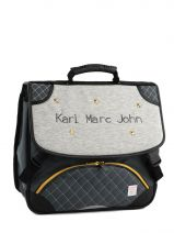 Cartable 2 Compartiments Karl marc john Gray star 671936