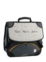 Satchel 2 Compartments Karl marc john Gray star 671936