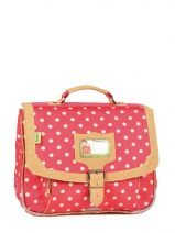Cartable 1 Compartiment Tann's Rouge heritage pois 4POCA32