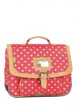 Cartable 1 Compartiment Tann's Rouge heritage pois 4POCA35