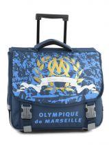 Cartable A Roulettes 2 Compartiments Olympique de marseille Blue om 153O203R