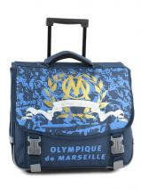 Wheeled Schoolbag 2 Compartments Olympique de marseille Blue om 153O203R