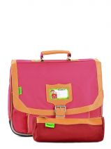 Satchel 1 Compartment With Free Pencil Case Tann's Pink kid classic 14CA35