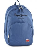 Sac A Dos 2 Compartiments Pepe jeans Blue plain color blue 60424